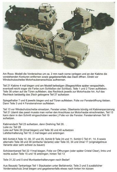 Zusatzpanzerung für US-M-923 5-Tonner LKW Serie. Fotoätzplatine