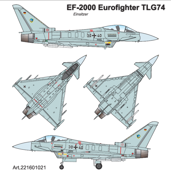 "EUROFIGHTER TYPHOON Einsitzer TLG74 (ex JG74 ""Mölders"")"